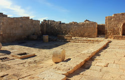Avdat. Ruins of old city Avdat in Israel Royalty Free Stock Photos