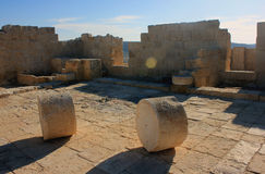 Avdat. Ruins of old city Avdat in Israel Royalty Free Stock Photo