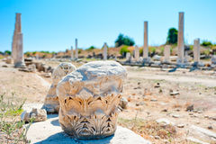 Ruins of old city Side, Antalya Stock Photos