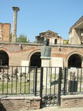Ruins of the Old Court of Bucharest. The Old Court of Bucharest, Romania, (the Old Princely Court) was built as a place of residence during the rule of Vlad III Stock Image