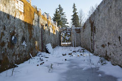 The ruins of old crushed building Royalty Free Stock Image