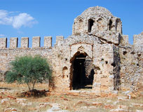 Ruins of old dome. In alanya castle Stock Images