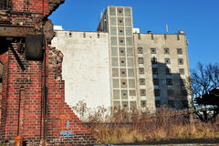 Ruins of old factory Royalty Free Stock Image