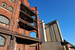 Ruins of old factory Royalty Free Stock Images