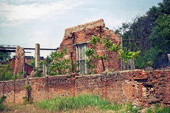 Ruins of old factory. Rostov-on-Don, Russia Stock Photo