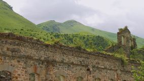 Ruins of old factory of zinc production dated by 19th century. In Ossetia stock video