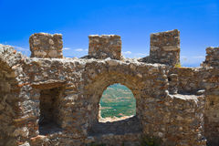 Ruins of old fort in Mystras, Greece Royalty Free Stock Photos