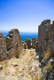 Ruins of old fort in Mystras, Greece Royalty Free Stock Photo