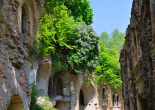 Ruins of old fort in Ukraine. Ancient ruins of military fort, Tarakanov Fort Stock Photo