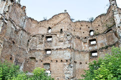 The ruins of the old fortress. Closeup. Stare Selo, near Lvov in Ukraine Royalty Free Stock Photography