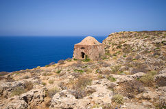 Ruins of old fortress on Gramvousa island, Crete, Greece Stock Image