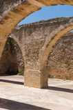 Ruins of old fortress and town in Rethymno Stock Photos