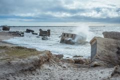 Ruins of old forts in the Baltic sea. royalty free stock photo