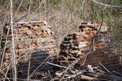 Mill Ruins on Enoree River Stock Image