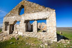 Ruins of  old house Royalty Free Stock Photos