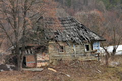 Ruins of an old house. Ruins of an old abandoned house in a sekler village in Romania Royalty Free Stock Photos