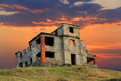 Ruins of old house Royalty Free Stock Image