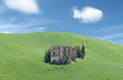 The ruins of the old house. The ruins of an old house in the countryside Stock Photos