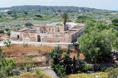 Ruins of old house in Ekklisia Agios Nikolaos royalty free stock images
