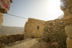 Ruins of an old house in Jordan Royalty Free Stock Photos