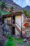 Ruins of an old house in Masca village, Tenerife, Canarian Islan Royalty Free Stock Image