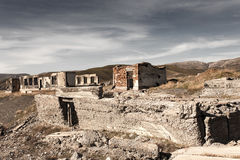 The ruins of an old house in nature Royalty Free Stock Photography