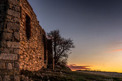 Ruins of an old house of stone in Spain Royalty Free Stock Image