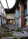 The ruins of an old house in the village Retinskaya Royalty Free Stock Image