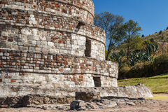 Ruins of the old indian town of Calixtlahuaca Stock Photography