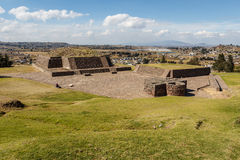 Ruins of the old indian town of Calixtlahuaca Royalty Free Stock Image