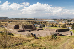Ruins of the old indian town of Calixtlahuaca Stock Photos