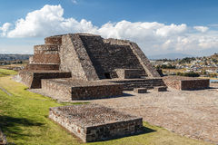 Ruins of the old indian town of Calixtlahuaca Stock Photo