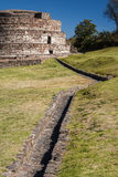 Ruins of the old indian town of Calixtlahuaca Royalty Free Stock Photo
