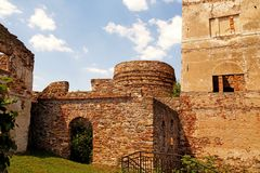 Ruins of an old ironworks, Samsonow, Poland royalty free stock images