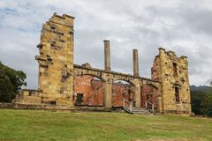 Ruins of  old  jail hospital at Port Arthur Stock Photo
