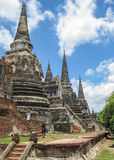Ruins  of The Old Kingdom of Ayutthaya. This  city was destroyed by the Burmese army in 1767  The ruins of the old city are preserved in the Ayutthaya historical Royalty Free Stock Images