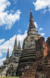 Ruins  of The Old Kingdom of Ayutthaya. This  city was destroyed by the Burmese army in 1767  The ruins of the old city are preserved in the Ayutthaya historical Stock Photography