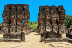 Ruins at old kings palace in Polonuaruwa, Sri Lanka Stock Image