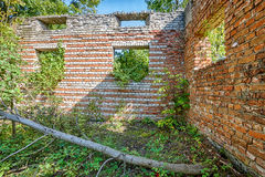 The ruins of the old manor house Stock Images