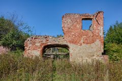 The ruins of the old manor house Royalty Free Stock Images