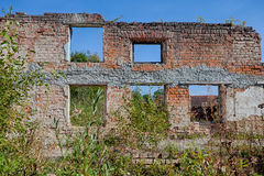The ruins of the old manor house Royalty Free Stock Photo