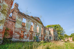 The ruins of the old manor house Royalty Free Stock Photography