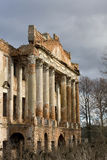 The ruins of the old manor on Nara Pushchino, Russia Stock Photo