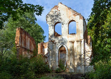 The ruins of the old manor Royalty Free Stock Photo