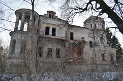 The ruins of the old mansion Royalty Free Stock Photo