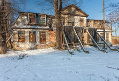 The ruins of an old mansion Royalty Free Stock Images