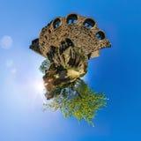 Ruins of old medieval castle Bernstein, Alsace Stock Image