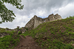 Ruins of the old medieval castle. Hust Royalty Free Stock Photography