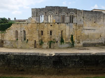 Ruins of an old medieval castle near sant Emilion in France Royalty Free Stock Photos