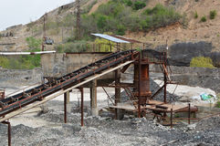 Ruins of old metal mine and metallurgic factory Stock Photo